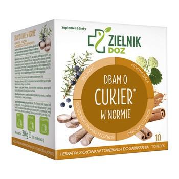 ZIELNIK DOZ I Pflege von normalem Zucker Kraeutertee 2 g 10 Beutel