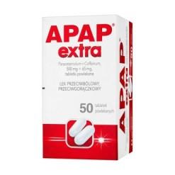 Apap Extra, 500 mg + 65 mg, Filmtabletten, 50 Stück (Flasche)