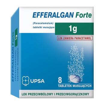 Efferalgan Forte, 1 g, Brausetabletten, 8 Stück