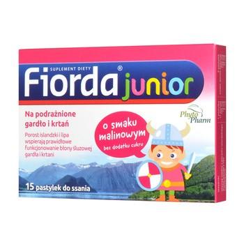 Fiorda Junior, Lutschtabletten mit Himbeergeschmack, 15 Stk.