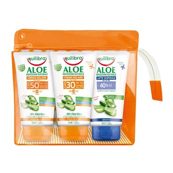 Aktionsset Equlibra Aloe, Creme SPF 30, 75 ml Creme SPF 50, 75 ml After-Sun-Milch 40 Aloe, 75 ml