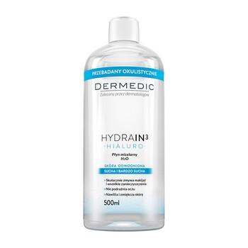 Dermedic Hydrain 3 Hialuro, H2O Mizellenwasser, 500 ml