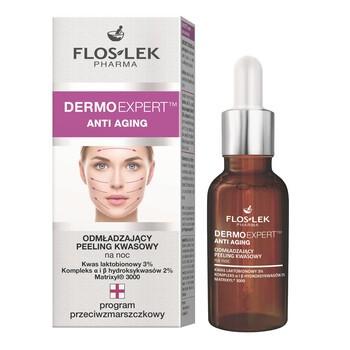 FlosLek Pharma Dermoexpert, Anti Aging, verjüngendes Säurepeeling, 30 ml
