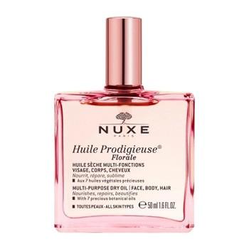 Nuxe Huile Prodigieuse Florale, multifunktionales Trockenöl zur Gesichts-, Körper- und Haarpflege, 50 ml