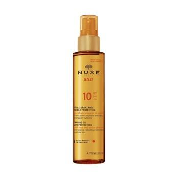Nuxe Sun, Bräunungs-Bräunungsöl, Gesicht und Körper, LSF 10, 150 ml (Spray)