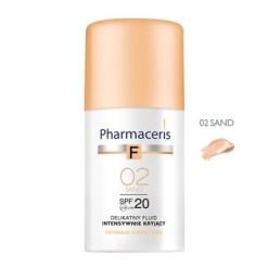 Pharmaceris F, zartes Fluid mit intensiver Deckkraft, Sand 02, SPF 20, 30 ml