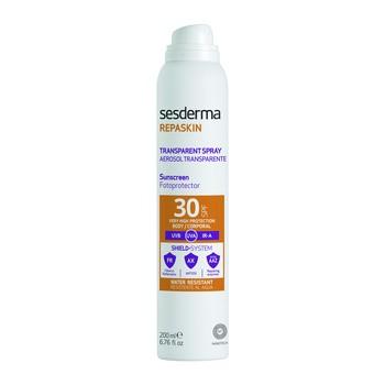 Sesderma Repaskin Transparent Spray Aerosol, transparenter Lichtschutz LSF 30, 200 ml