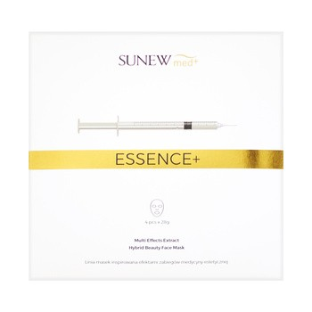 SunewMed Essence , Hybridmaske mit Peptiden und Schneckenschleim, 28 g x 4 Stk.