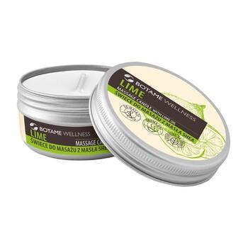 Botame Wellness Lime, Massagekerze mit Sheabutter, 50 ml