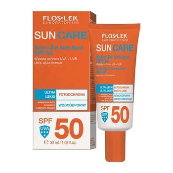 FlosLek Laboratorium Sun Care, Anti Spot Creme Gel, LSF 50, 30 ml