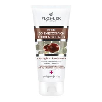FlosLek Pharma, Beinpflege, Creme für müde Beine mit Rosskastanienextrakt, 75 ml