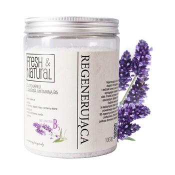 Fresh Natural, regenerierendes Badesalz mit Lavendel und Vitamin B5, 1000 g