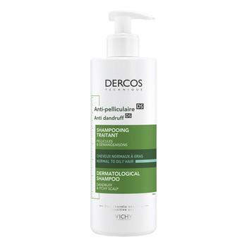 Vichy Dercos, Anti Schuppen Shampoo, normal und ölig, 390 ml