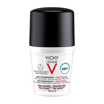 Vichy Homme, Ball Antitranspirant gegen Flecken auf der Kleidung, 48h, 50 ml