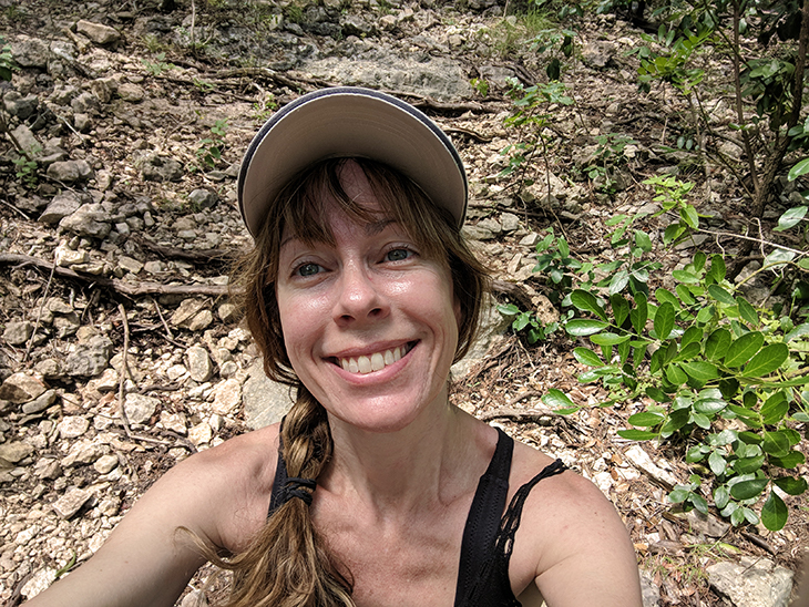 Hiking is a big part of my wellness lifestyle.