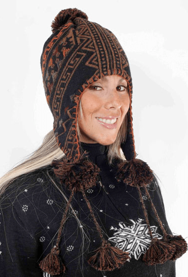 Peruvian Link Alpaca Collection   Ethnic Chullo Hat