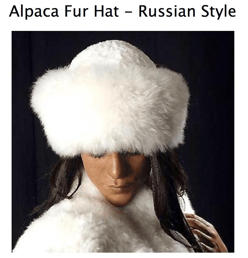 90c1fd799f5a5 Home Women s Hats Alpaca Fur Hat.   