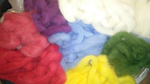 Solid Color Hand Dyed Roving
