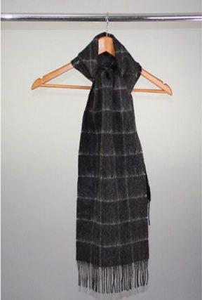 Grey squares scarf
