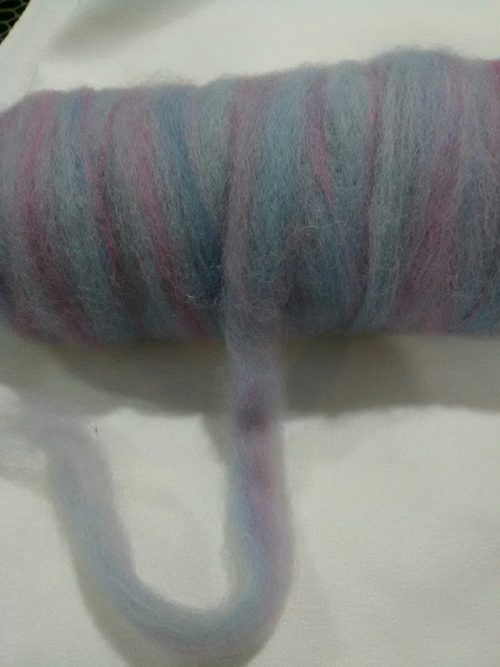 blue and pink roving