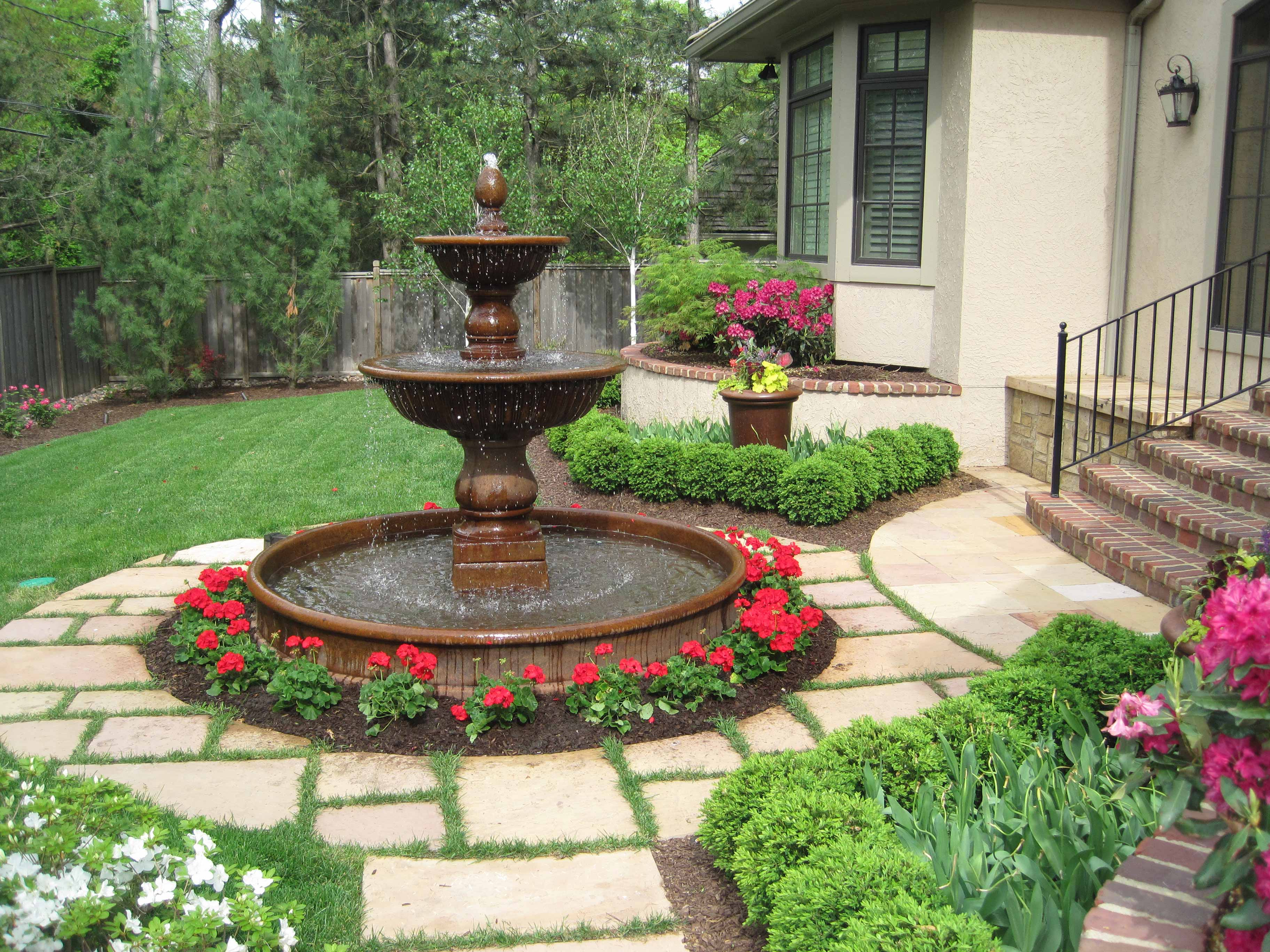 Custom Garden Fountains & Statuary in Kansas City at ... on Backyard Landscaping Near Me id=81910