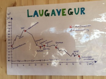Handy hand-drawn Laugavegur map!