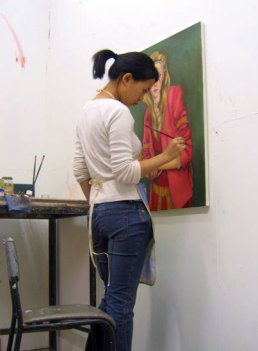 In my London studio (2005)