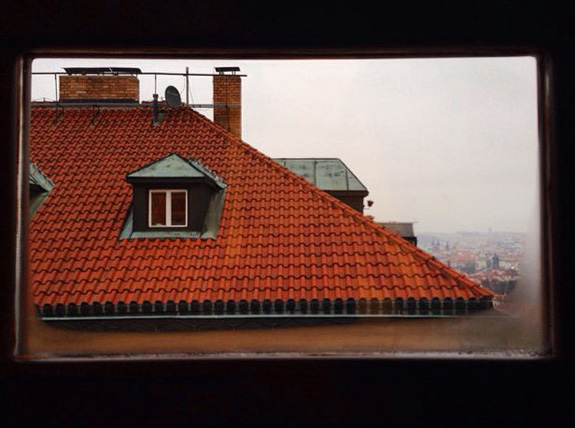 The rooftops of Prague...aka the view out our window