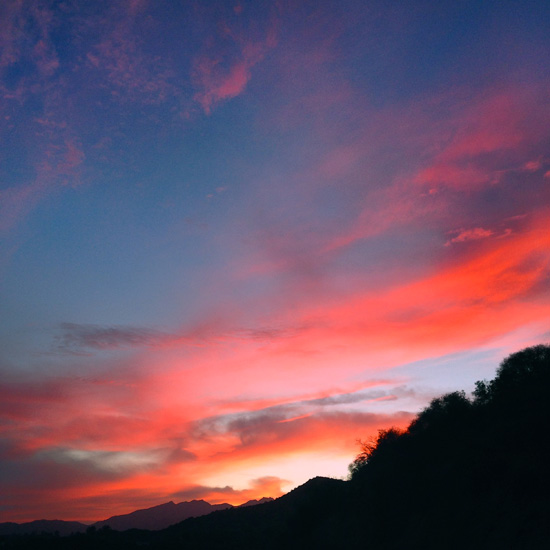 The famous pink Ojai sunset