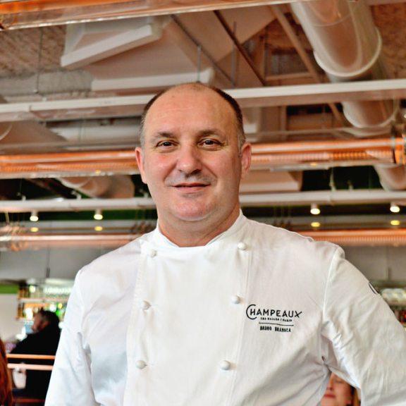 Chef Bruno Brangeo at Champeaux restaurant, Paris.