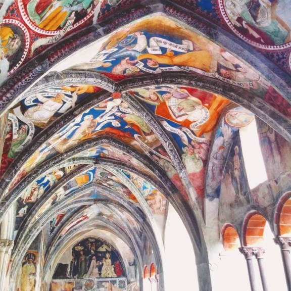 Historic ceiling in South Tyrol.