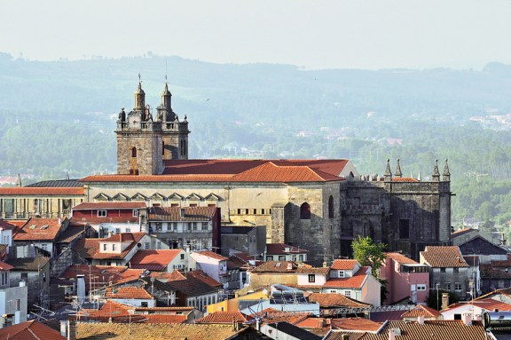 The skyline of Viseu, Portugal