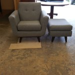 Upholstery Arm Chair and Ottoman - After - 2019