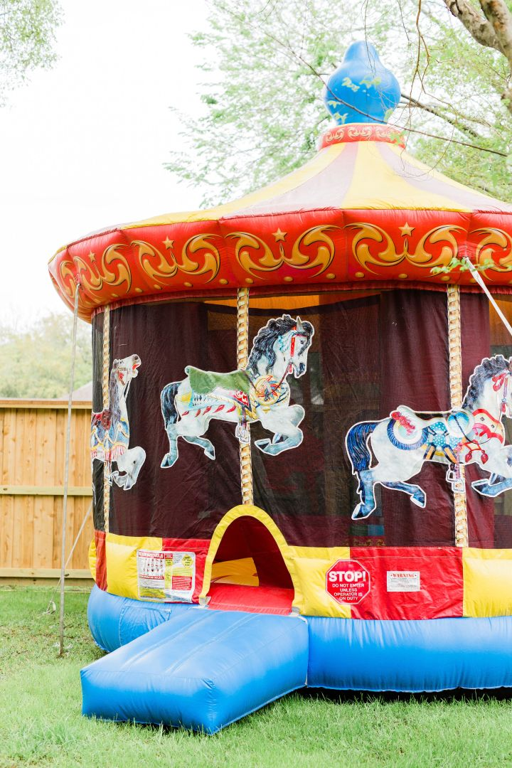 Baby Weaver's Carnival Themed Birthday Party