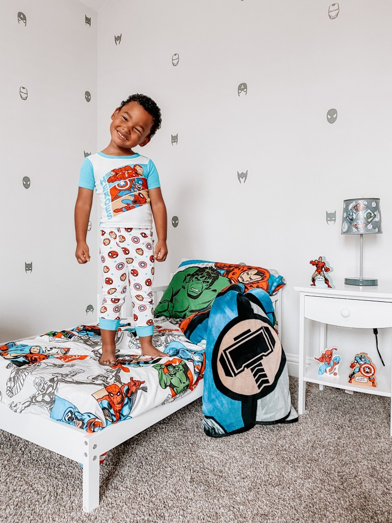 superhero toddler room