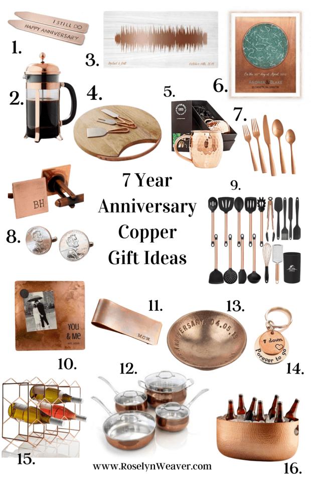 copper anniversary gift ideas