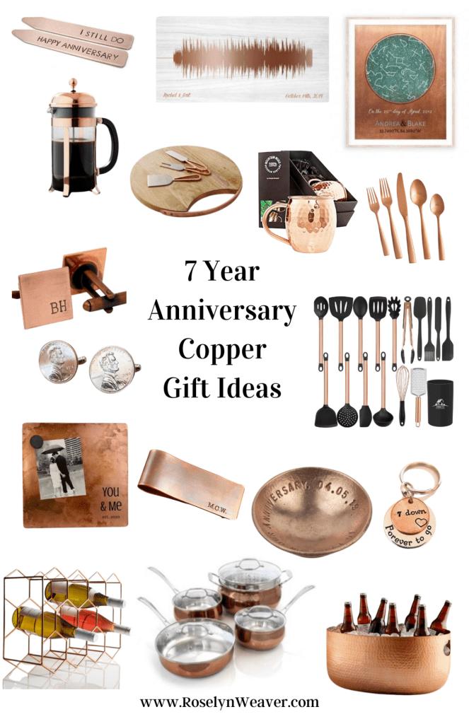 copper wedding anniversary gift ideas