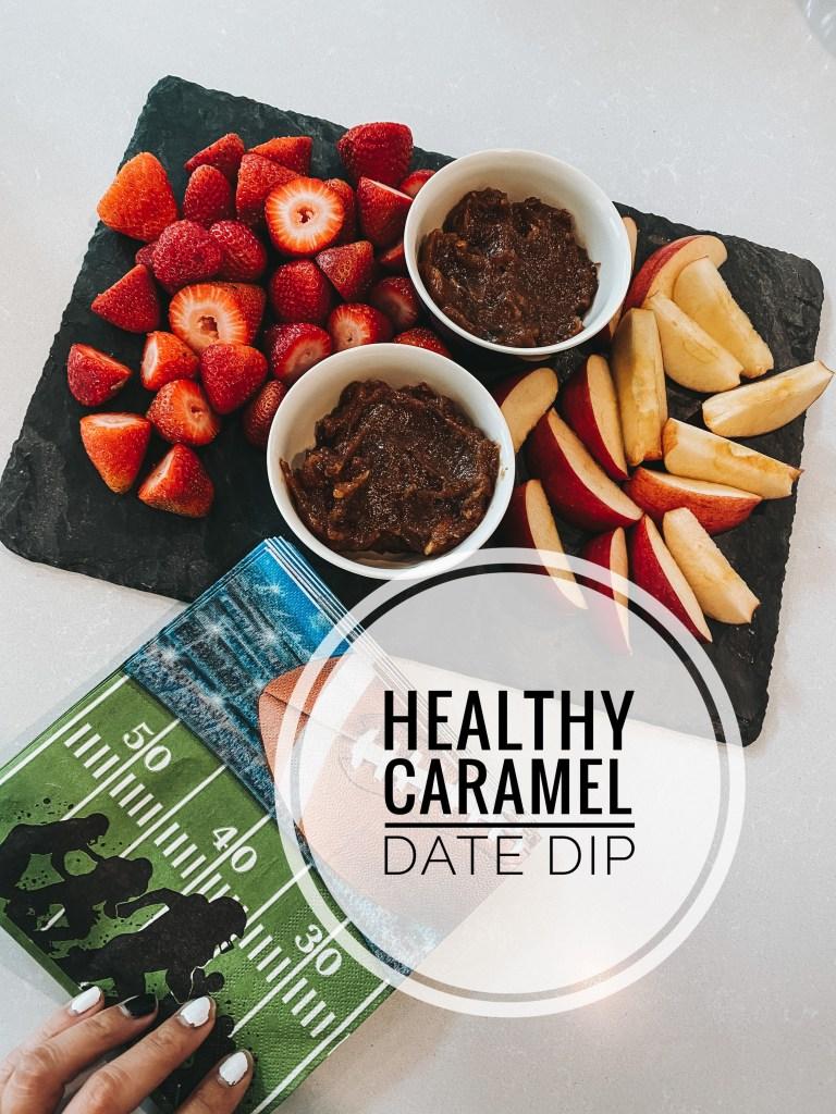 healthy caramel date dip