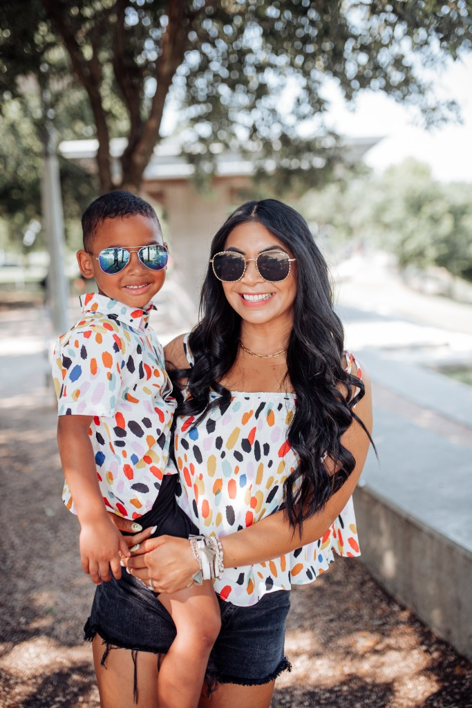 mommy and son matching outfits for pictures