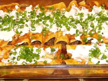 Spicy Beef & Chorizo Enchiladas (6)