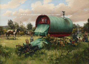 Gypsy Wagon Paintings by Diana Rosemary Lodge
