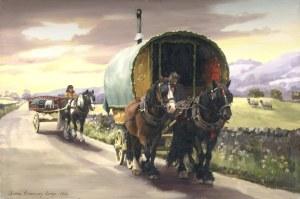 Gypsy Caravan Paintings by Diana Rosemary Lodge