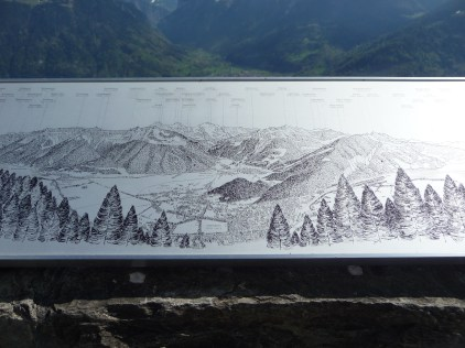 Panoramic map at the Harder Kulm viewing deck