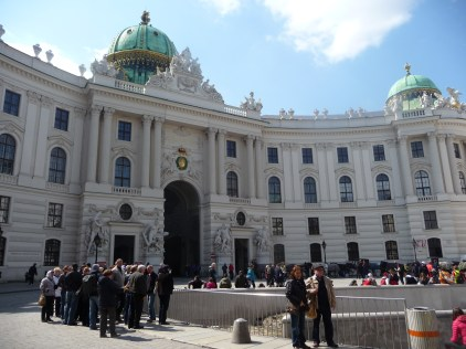 Outside the Hofburg Vienna