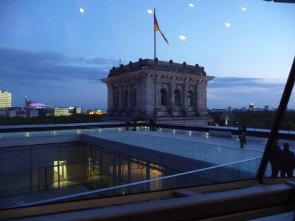 Reichstag Building at night Berlin