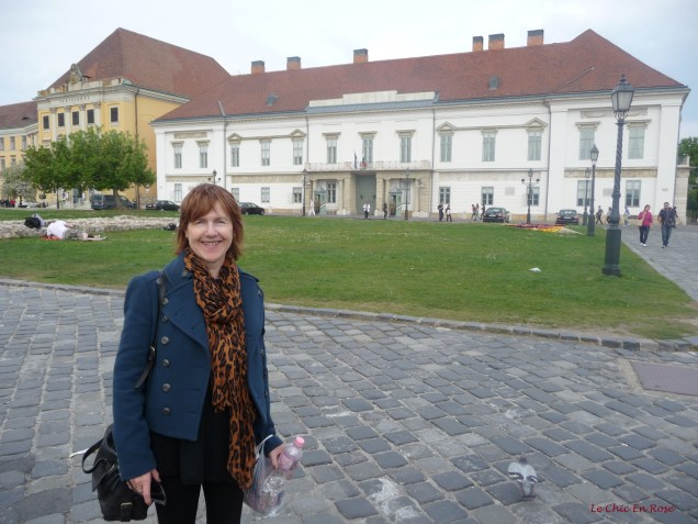 In front of Alexander (Sandor) Palace Buda Castle Hill