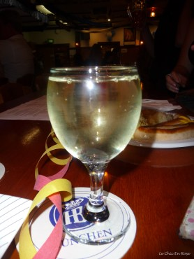 Glass of the house white a most acceptable semillon