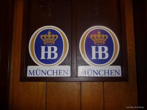 Traditional beer mat wall plaques at the Rhein Donau Club