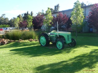 The old tractor in the grounds