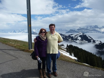 There were only a handful of tourists at Rigi Kulm that day. A lovely couple from Tel Aviv took our photo!